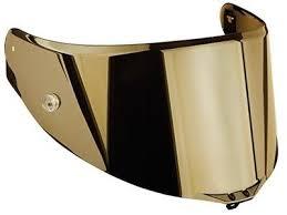 visiera casco in oro